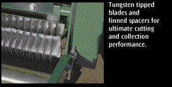 Tungsten tipped blades for performance