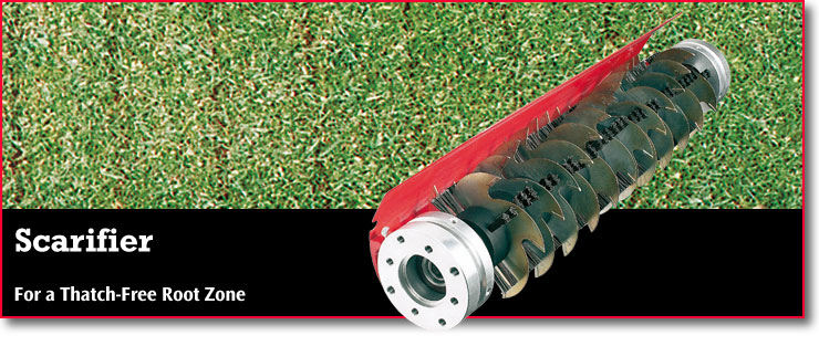 Scarifier - for a thatch-free root zone